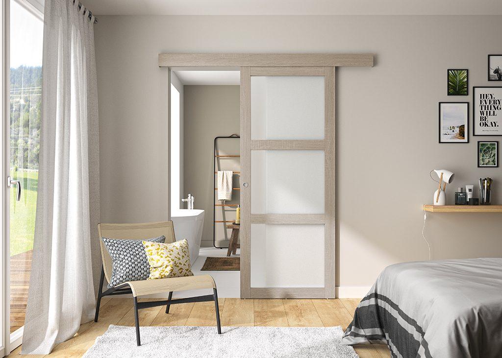 Porte intérieure Coulissante Vitrée modèle Vérone