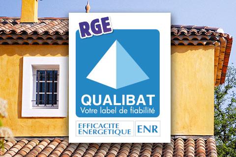 Certification Qualibat RGE pour la pose de menuiseries extérieures.