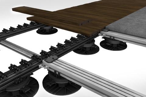 Maquette système de pose des terrasses GRAD.