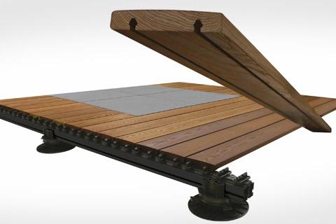 Visuel technique de pose des lames de  terrasses GRAD.