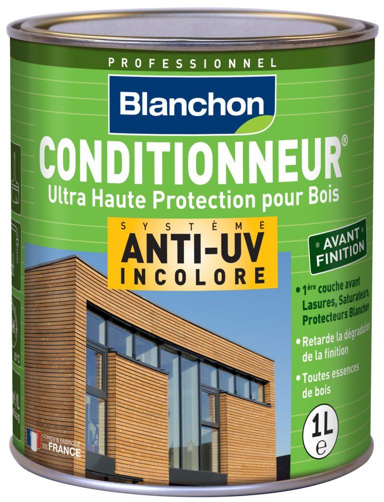 Produit Blanchon pour bois extérieurs conditionneur anti-UV, incolore