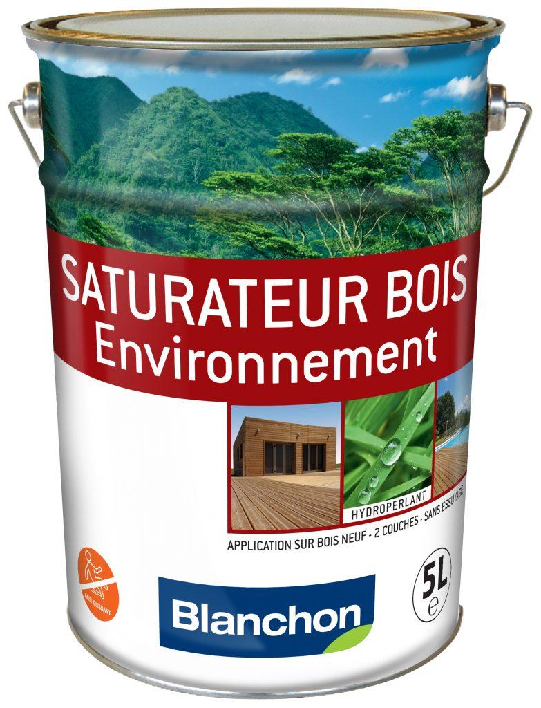 Produit Blanchon saturateur pour bois extérieurs, gamme environnement